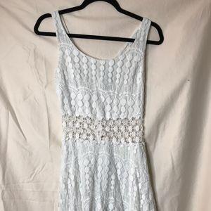 TRIXXI WHITE LACED DRESS